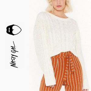 Cable Talk Relaxed Knit Sweater